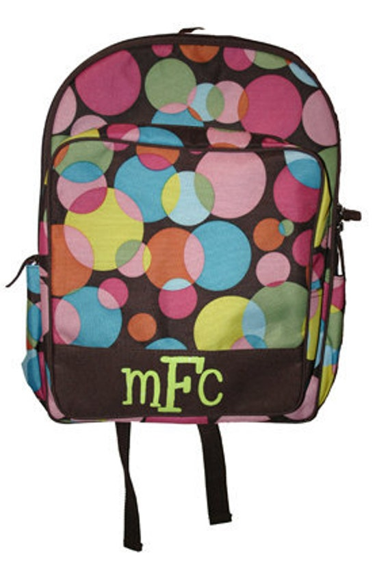 Multi Dot Backpack - Personalized with a name or initials