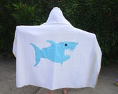 Free Shipping- Shark Hooded Bath Towel For Toddler & Children