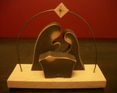 Wooden Silhouette Nativity - Brown SMALL