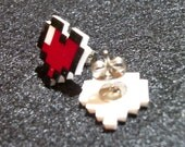 8 Bit Heart Post Earrings