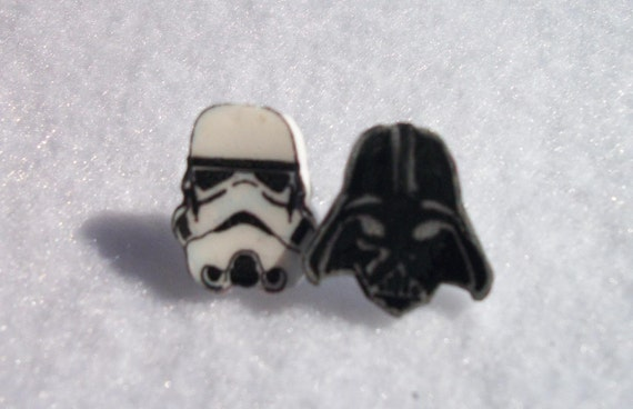 Mismatch Vader and Stormtrooper Earrings