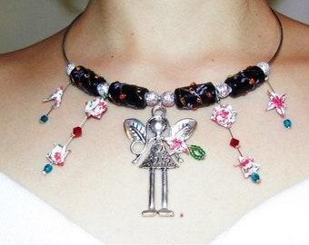 Fairy origami necklace