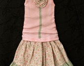 Thinking Spring . . Skirt and Tank . . Size 2T, 3T, 4T