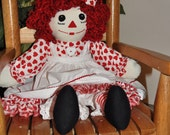 "Handmade Raggedy Ann 20"" Personalized-FREE SHIPPING"