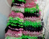 Hand Knit Scarf / Sushi / One of a Kind