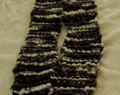 Hand Knit Scarf / Oreo Cookie / Black and White / OOAK