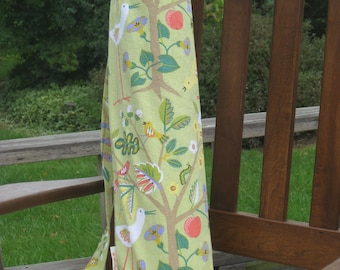 Birds & Bees Cotton Yoga Mat Tote with Keychain