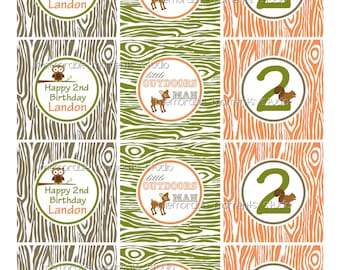 PRINTABLE PARTY CIRCLES Little Outdoorsman Party Collection - Memorable Moments Studio