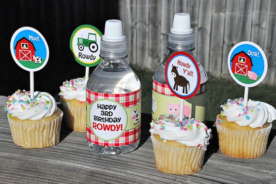 PRINTABLE PARTY CIRCLES Down on the Farm Party Collection - Memorable Moments Studio