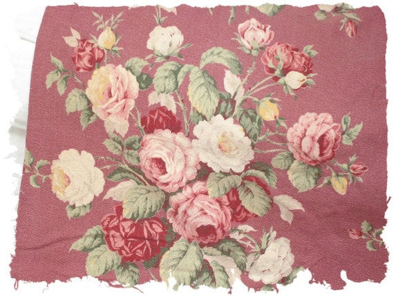 Pair of Romantic 1930s Pink English Cabbage Rose Bouquet