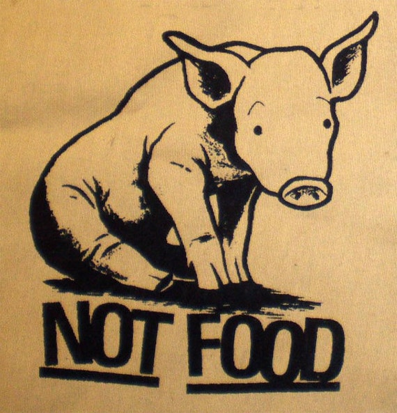 Vegan patch Pigs are NOT FOOD