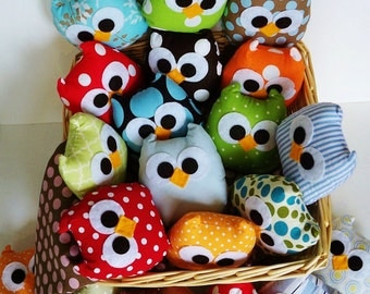 7 lovely colorful mini owls