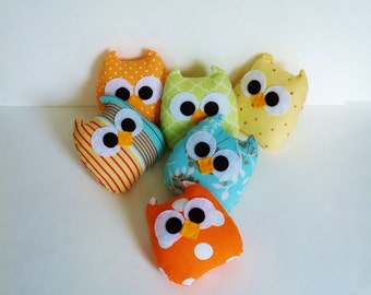 5 colorful mini owls u can choose any color u like