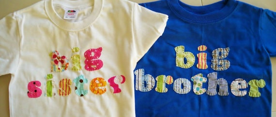 Big sister or big brother t shirt