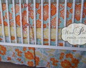 Baby Bedding- Design Your Own Crib Set- Heirloom in Amber