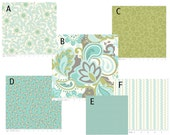 Custom Baby Crib Bedding- Design Your Own- Verona in Teal