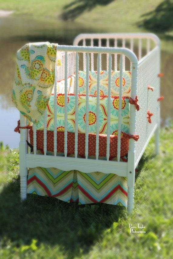 Custom Baby Crib Bedding- Design Your Own- Pop Garden