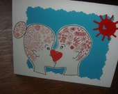 Pucker Up Note Card