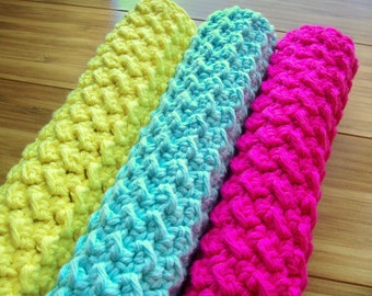 Luxurious Ribbed Spa Cloth Exfoliating Washcloth Crochet Pattern PDF
