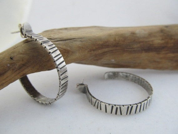 Reserved for Michelle- Urban Chic Striped hoop and bangle upgrade