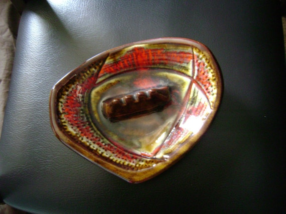 Rare CALIF USA Vintage Mid Century Modern 50s 60s Collectible Glass Ashtray Atomic Pottery Ceramic