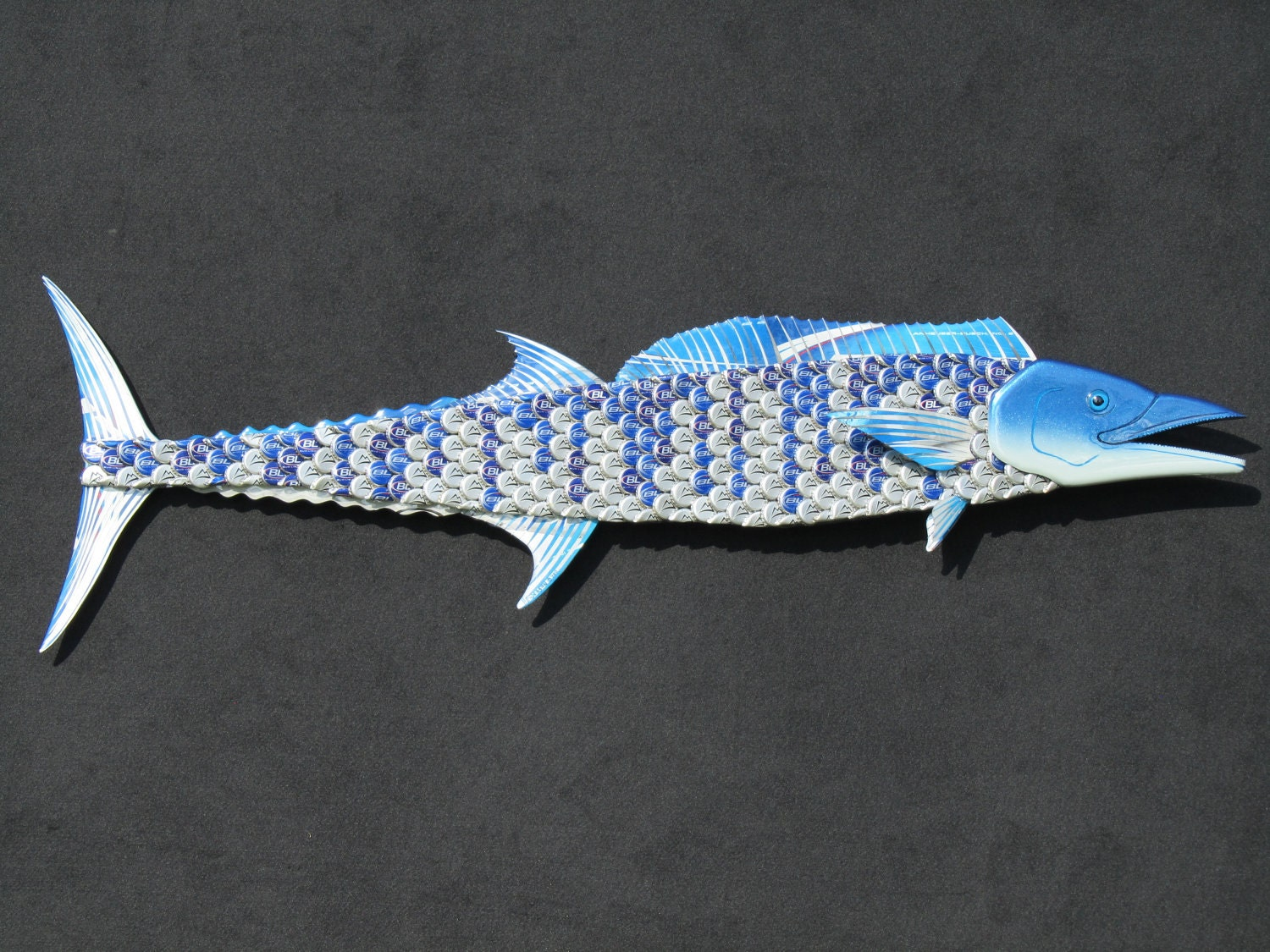 Fish Wall Art wahoo metal bottle cap fish wall art
