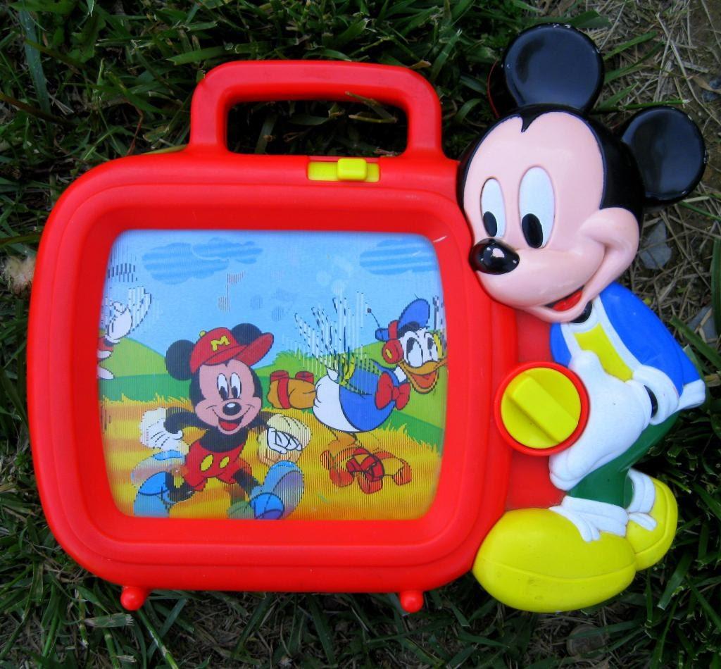 sale vintage disney mickey mouse music box tv toy retro