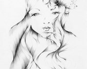 Remember Me / an original drawing, fantasy & whimsical, fine art