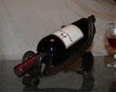 Horse shoe wine bottle holder