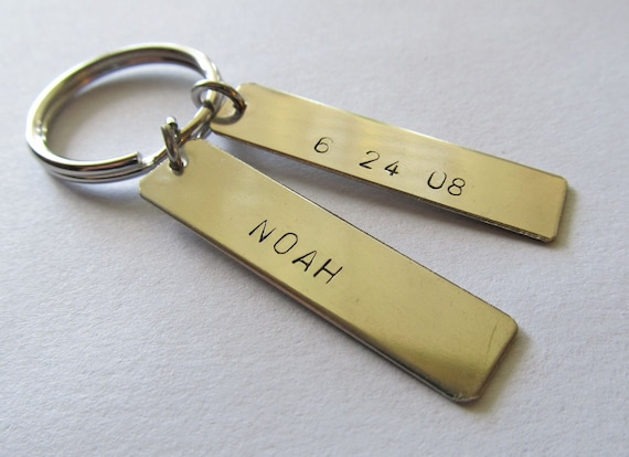 Personalized Key Chain with Double Rectangle