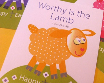 Easter Cards for Kids with Cross
