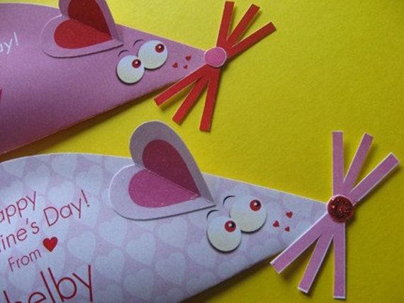 Mouse Valentine Card, Craft