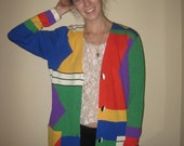 Retro Colorful Cute Button Down Jacket