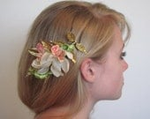 Spring Orchid hair comb