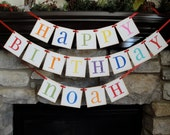 HAPPY BIRTHDAY banner with NAME up to 7 letters