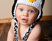 Newborn Crochet Penguin Hat