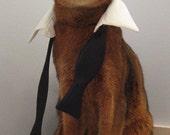 Bond inspired untied bow tie tuxedo collar for cat