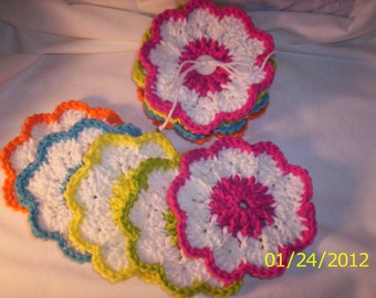 Crocheted Set of Spring Coasters