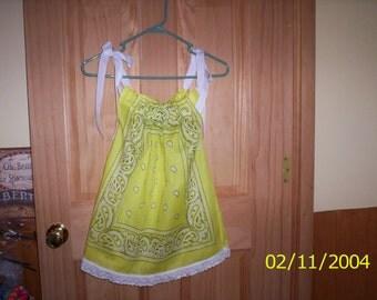 Bandana Dress or Shirt  5-6
