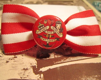 Sailor Jerry Striped Nautical Bow Rockabilly Pinup