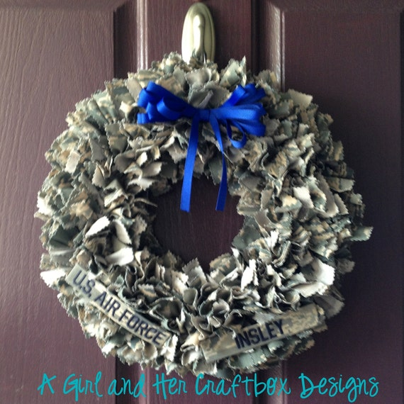 Items Similar To Airforce ABU Wreath WITH Nametapes On Etsy