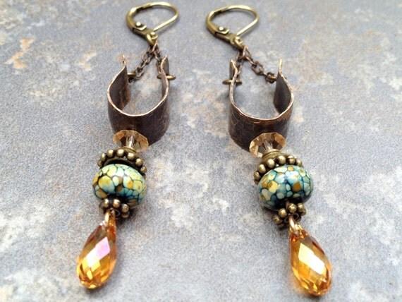 Unique Artisan Earrings Elegant Handmade Dangles