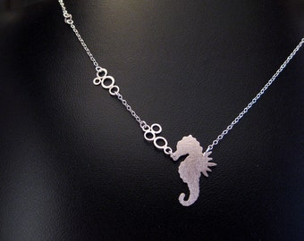 Seahorse Pendant - Silver Sealife Necklace - Cute Beachy Necklace and Ocean Lover Gift- Resort Jewelry
