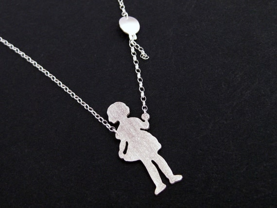 Balloon Necklace - Silver Balloon Jewelry - Unique New Mom Gift - Little Girl Jewelry