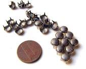 50 Gunmetal Round Crosshatch Nailhead Studs - 7mm - DIY Leather Craft Accessory Supplies