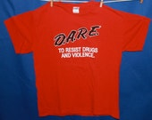 Vintage 90s D.A.R.E. Red T-Shirt Men's Size L