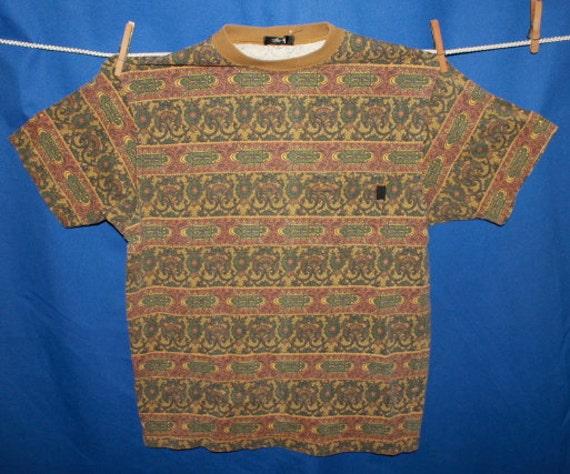 Vintage 90s Stussy Shirt with Left Pocket Mens Size L/XL