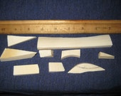 Vintage Pre Ban Real Ivory Trimmings - scrimshaw/jewelry maker/carver supplies/inlay
