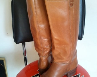 Equestrian Boots//Vintage Tall Leather Boots//Vintage  Nine West