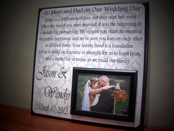 Memorable Wedding Gifts For Parents : Wedding Gift, Parents Wedding Gift, Parents of the Bride, Parents ...